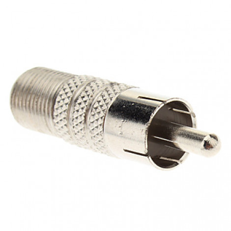 F Female to RCA Male Adapter